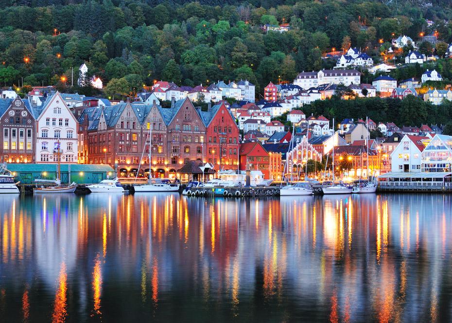 Bergen utsiktsbilde
